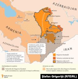 Nagorno-Karabah, acordul de încetare a focului mediat de Rusia