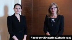 Святлана Циханоуска и Екатерина Захариева са се срещнали в Братислава по време на конференцията GLOBSEC