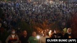 Демонстрации в Белграде, столице Сербии. 7 июля 2020 года.