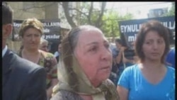 Пикет беженцев из Карабаха перед судом