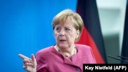 Cancelara germană Angela Merkel la Berlin, 17 august 2021.