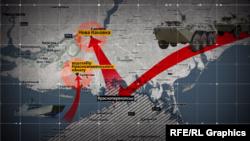 نقشه کریمیا، جایی که توسط روسیه از اوکراین جدا و به خاک این کشور ملحق شد