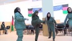 Afghan Policewomen On Patrol