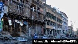 خسارات ناشی از انفجار بمب در شهر گردیز December 4, 2020