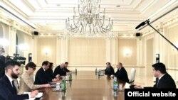 Prezident İlham Əliyevin ATƏT sərdi və nümayəndə heyəti ilə görüşü, 14 mart 2021