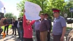 Гражданские активисты вышли на митинг