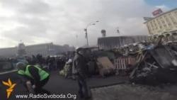 Дорога з готелю «Україна» на Майдан (є кадри загиблих)