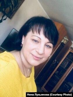 Нина Лукьянова до нападения полицейского