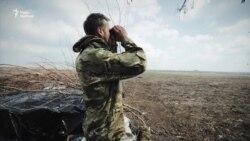 Новолуганський напрямок: на позиціях бойовиків – прапори СРСР та російських військових (відео)