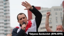 Lider al opoziției ruse, Pavel Sevyarynets este arestat din iunie 2020 pentru că a participat la mitinguri la care s-au strâns semnături pentru contracandidații în alegeri ai lui Aleksandr Lukașenko.