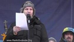 Виступ Віталія Кличка на інформаційному мітингу