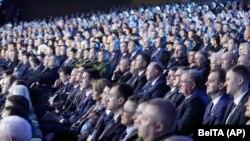 """Ahlibelarus halk ýygnagyna"" gatnaşýan delegatlar. 11-nji fewral, 2021 ý. Minsk."