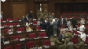 Armenia - Pro-government and opposition lawmakers clash during a session of the National Assembly, August 11, 2021