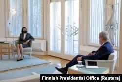 Сустрэча Сьвятланы Ціханоўскай з прэзыдэнтам Фінляндыі Саўлі Ніініста 2 сакавіка 2021