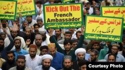 تظاهرات حامیان تحریک لبیک در پاکستان