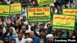 د پاکستان د تحریک لبیک سخت دریځې ډلې پلویانو اعتراض