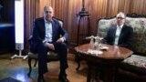 Министр иностранных дел Армении Ара Айвазян (справа) и Министр иностранных дел России Сергей Лавров, Москва, 17 февраля 2021 г.