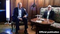 Ռուսաստանի արտգործնախարար Սերգեյ Լավրովը և Հայաստանի արտգործնախարար Արա Այվազյանը, արխիվ