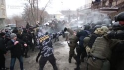 Right-Wing Factions Clash With Police In Kyiv