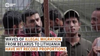 Belarus Accused Of 'Provocation' As Record Numbers Of Illegal Migrants Reach Lithuania
