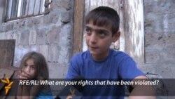 Armenian Teen Demands 'Right To A Good Life'