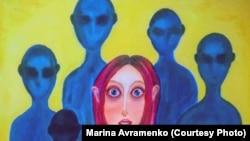 """Картина """"Проститутка"""" Маруси Морковкиной – бывшей секс-работницы, которая не скрывает своего опыта."""