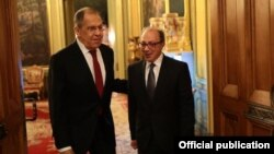 Russia - Russian Foreign Minister Sergei Lavrov meets with his Armenian counterpart Aya Ayvazian in Moscow, April 1, 2021.