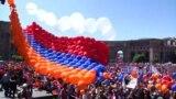 Crowds Gather At Armenian Parliament