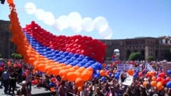 Crowds Gather At Armenian Parliament
