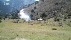 В Шахристане проходят антитеррористические учения бойцов спецпоздразделения милиции