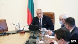 Бойко Борисов на заседанието на правителството в петък