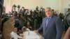 Bulgaria - Prime Minister Boyko Borisov votes in April election - screen grab