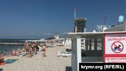 Пляж «Парк Победы» в Севастополе, июль 2021 года