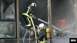 Пожар во зградата на Инспекторатот за животна средина