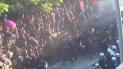 Përleshje midis policisë dhe protestuesve në Hamburg