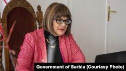 """""""Svojom hrabrošću, pokrenula je lavinu"""", poruka ministarke kulture Maje Gojković glumici Mileni Radulović."""