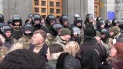 На сесію міськради Харкова поліція не пустила журналістів (відео)