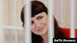 Journalist Katsyaryna Barysevich in a Minsk court on February 19