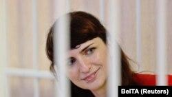 Журналистка белорусского издания TUT.BY Катерина Борисевич в суде. Минск, 19 февраля 2021 года.