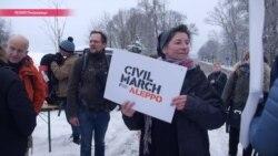 От Берлина до Алеппо: активисты идут пешком по дороге сирийских беженцев (видео)