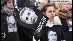 Kiyevdə Azərbaycan səfirliyi qarşısında etiraz aksiyası