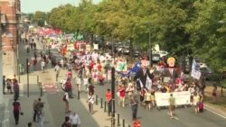 Manifestație de protest anti-Trump la Bruxelles
