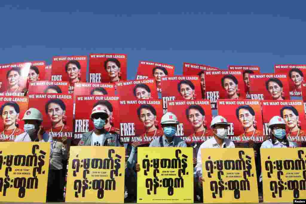 75 жастағы Аун Сан Су Чжи 1989-2010 жылдары үйқамақта болған. 1991 жылы, үйқамақта отырған кезде, ол еліндегі адам құқығы мен демократия жолындағы күресі үшін бейбітшілік саласы бойынша Нобель сыйлығын иеленді. Халықаралық қауымдастықтың қысымынан соң 2010 жылы Мьянма әскерилері оны үйқамақтан босатты. 2015 жылы оның партиясы елдегі сайлауда жеңіске жеткен. Бірақ Су Чжи балалары шетел азаматы болғандықтан елдің президенті бола алмады, бірақ ол елдің де-факто лидеріне айналды.