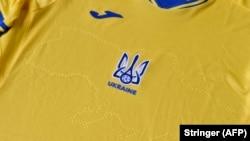 Az ukrán válogatott meze az ellentmondásos ábrával, 2021. június 6.