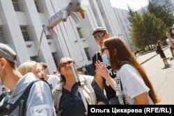 Протестное шествие 8 августа. Крыса на вилах. Хабаровск