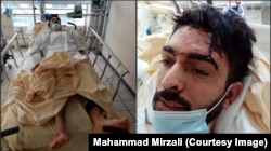 """Mirzali after being beaten and stabbed multiple times by six men in France on March 14. A text message sent to him described the attack as the """"last warning"""" for his activism."""