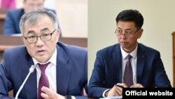 Улукбек Карымшаков менен Медербек Сатыев.