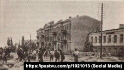 Історичне фото негоди в Ялті у 1912 році, взяте з книги «Нарис діяльності Київського округу шляхів сполучення» (Київ, 1913 рік)