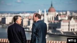 Orbán Viktor miniszterelnök Budapesten, a Karmelita kolostorban fogadta Manfred Webert, az Európai Néppárt frakcióvezetőjét 2019. március 12-én
