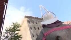 Пожар на мясокомбинате в Бишкеке локализован